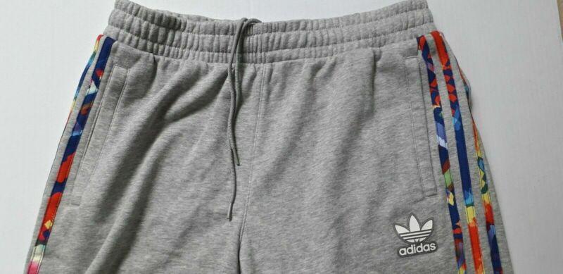 Adidas Br8 Pantaloncini Uomo In Grigio Mix, Cotone, 3 Righe-nuovo