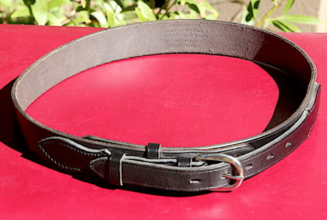 """WILLIAMS Men/'s Vintage 1.25/"""" Leather Hip Belt $110 NEW R.M"""