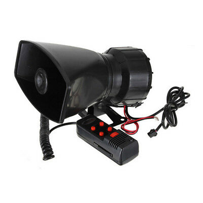 12V Loud Horn Car 5 Sound Tone Speaker With PA System Mic Max 300db