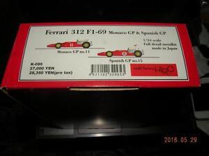 MODEL-FACTORY-HIRO-1-24-FERRARI-312-F1-69-039-MONACO-amp-SPANISH-SUPER-KIT-MFH-K095
