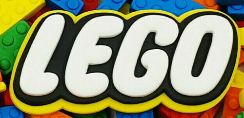 EDIBLE CAKE TOPPER CHOOSE YOUR SIZE. LEGO LOGO AWESOME!!!