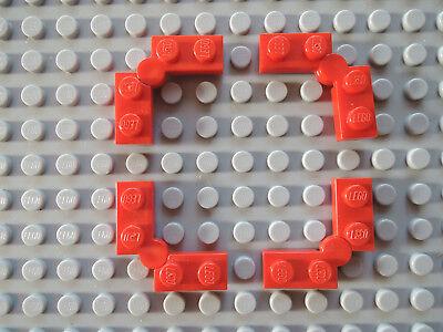 Lego 4 x Paare Platte Klappscharnier 2429c01 neu dunkelgrau 1x4  2429  2430