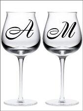 New 26 ALPHABET LETTER SET INITIALS wine glass vinyl stickers 18 Colour choice