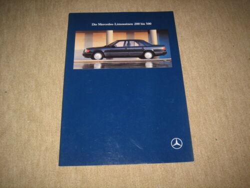Mercedes Classe E 200-300 BERLINE w124 prospectus brochure 3//1991 46 pages