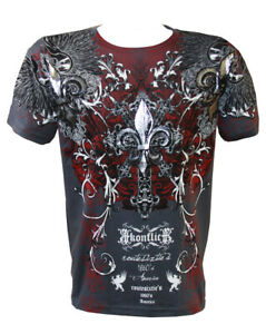 Konflic-NWT-Men-039-s-Rock-Star-Graphic-MMA-Muscle-T-shirt