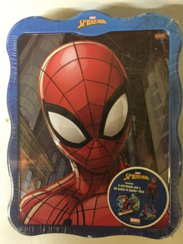 Marvel Spiderman **make the model** Storybook 3D Metallic Tin