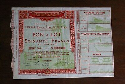 Puntual Bon à Lot : Exposition Coloniale Internationale - Paris 1931 Refrescante Y Enriquecedor De La Saliva