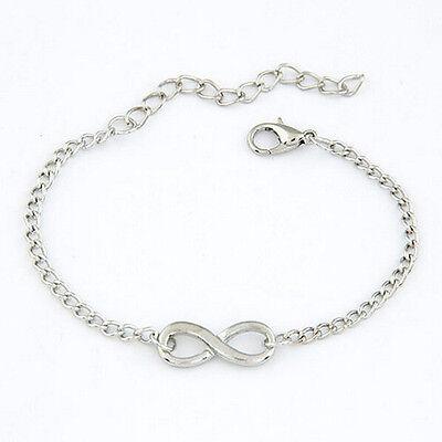 Women Chic Cross Infinite Bracelet Bangle Chain Bracelets Gold Silver Jewelry FT