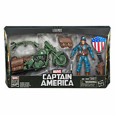 Marvel Legends 80th Captain America 6 Inch Action Figure Motorcycle in Stock