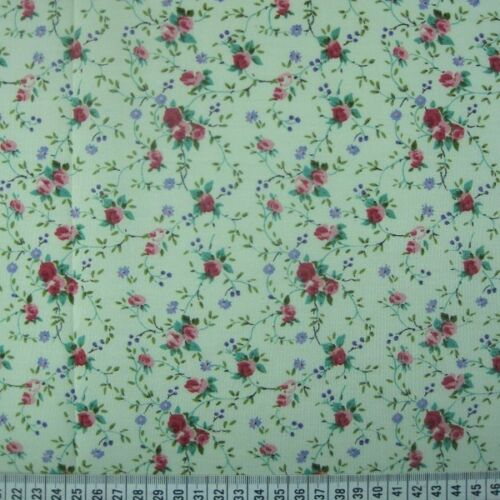 Polycotton Fabric Rose Radiance Weaving Tangled Vine Floral Flowers