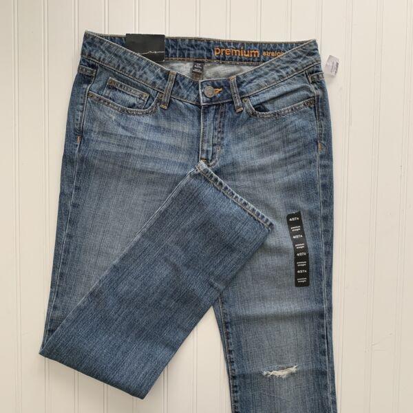 100% Vero Gap Donna Premium Jeans Gamba Dritta Misura 4/27 Medio Lavaggio Prendiamo I Clienti Come Nostri Dei