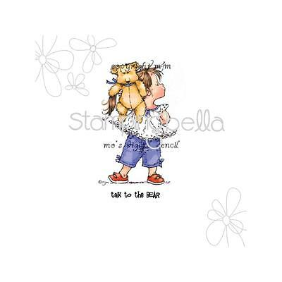 """Stamping Bella Cling Stamp 6.5""""X4.5"""".Talk To The Bear"""