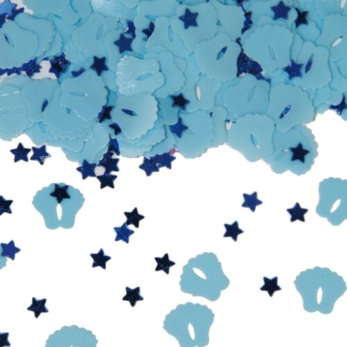 Geburt Jungen Konfetti Babyfüße blau FOLAT 05324 Geburtstag /& Party