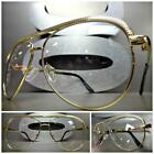 CLASSIC VINTAGE RETRO AVIATOR Style Clear Lens EYE GLASSES Gold Fashion Frame