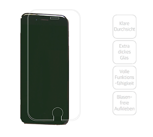 Apple-iPhone-6-6s-Glasfolie-Extra-dick-amp-robust-Farbe-Transparent
