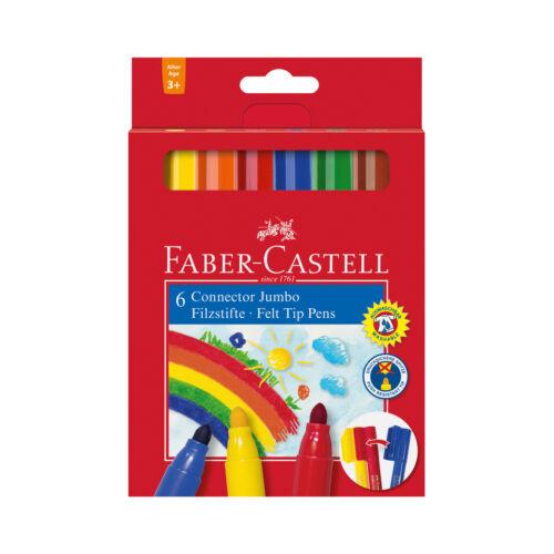 FABER-CASTELL Faserstift Jumbo 6er Etui CONNECTOR Pen