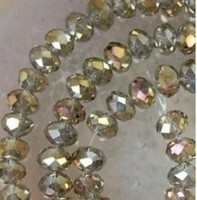 Cheap wholesale Colorful Gray AB color 6x8mm crystal Gems Loose beads 70PCS