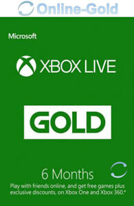 Xbox Live Gold Suscripción 6 Meses código Xbox One 360 Prepago Tarjeta Membresía