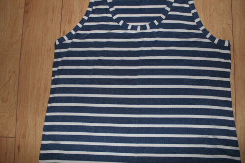 J.Crew Side Slits Maxi Tank Dress in Stripe Size X-Large Heather Blue Color