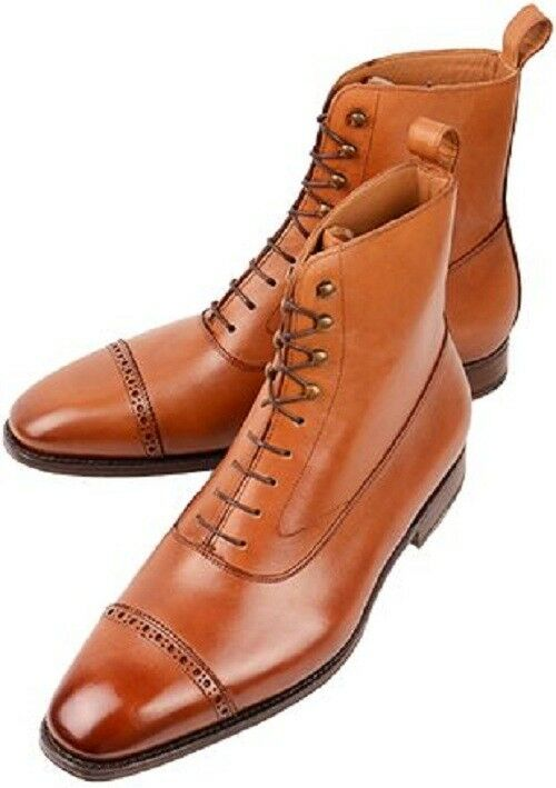 Handmade Men Tan ankle Stiefel, Men Men Men tan Farbe lace up ankle Stiefel, Men leather Stiefel 596196