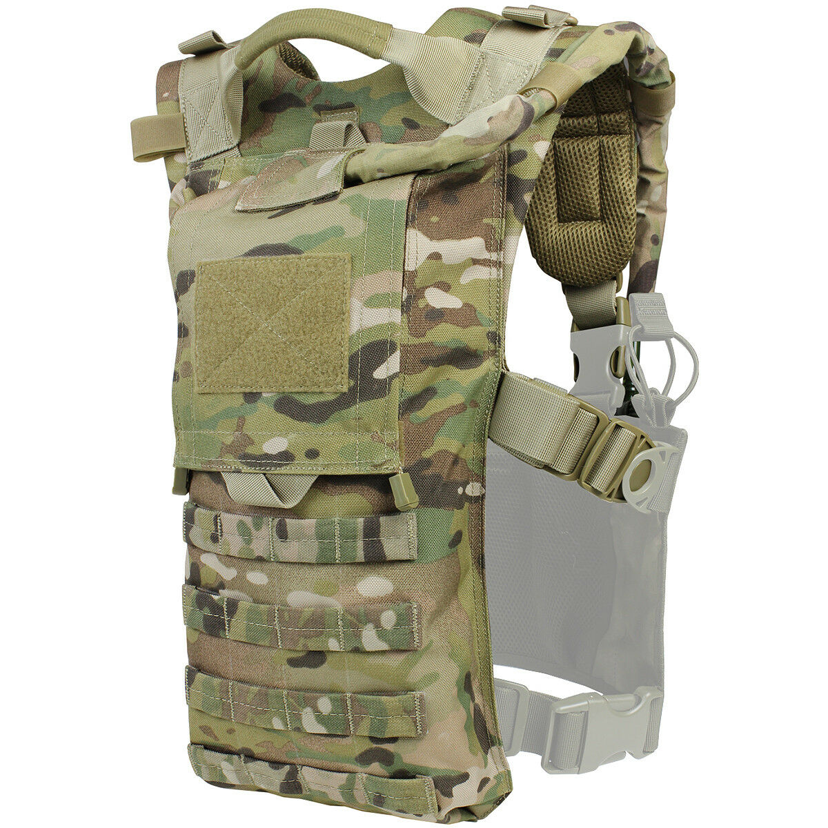 Condor Military Hydro Harness Chest Rig Hydration Add-On Water Carrier  Multicam  unique shape