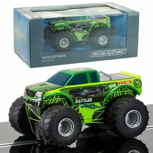 NEW-Scalextric-C3711-Monster-Truck-Rattler-RCT-1-32-Scale-Slot-Car-FREE-US-SHIP