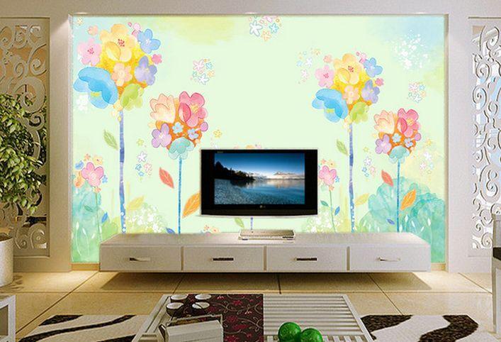 3D fiori Farbeati Parete Murale Carta da parati immagine sfondo muro stampa