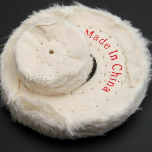 "4/"" Multi-layers Cotton Cloth Grinding Polishing Wheel Buffing Craft Jewelry Wood"