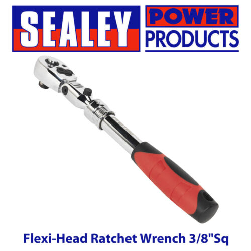 Sealey AK6681 Flexi-Head Ratchet Wrench 3/8Sq Drive Extendable