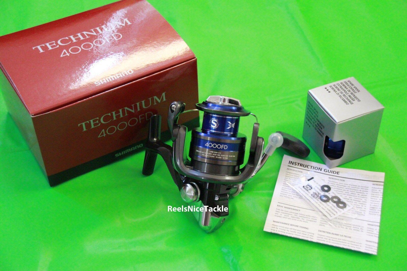 NIB Shiuomoo Technium 4000 FD Spinning Reel TEC4000FD plus spare spool gratuito 3 DAY