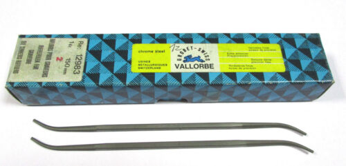 12 Grobet Swiss Vallorbe Präzisions Riffelfeilen L=150 SH-2 Nr 12983 Neu H15693