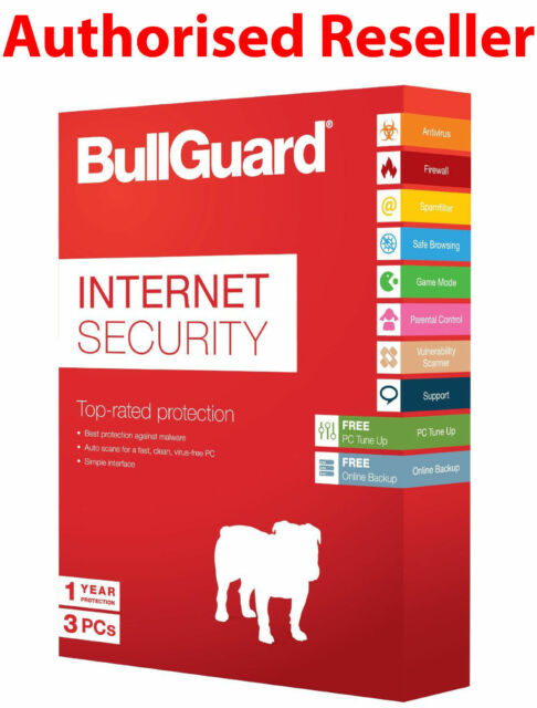Download BullGuard 2019 Internet Security 3 Users 2 Years Genuine License PC//MAC