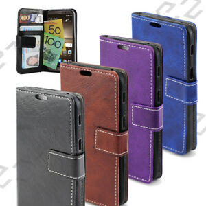 Moto-Leather-Flip-Wallet-Case-G4-G5-Plus-X-Force-Z-play-Cover-AU