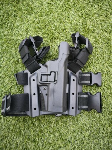 GLOCK BRITISH ARMY BLACKHAWK SERPA LEVEL 3 TACTICAL LEG HOLSTER