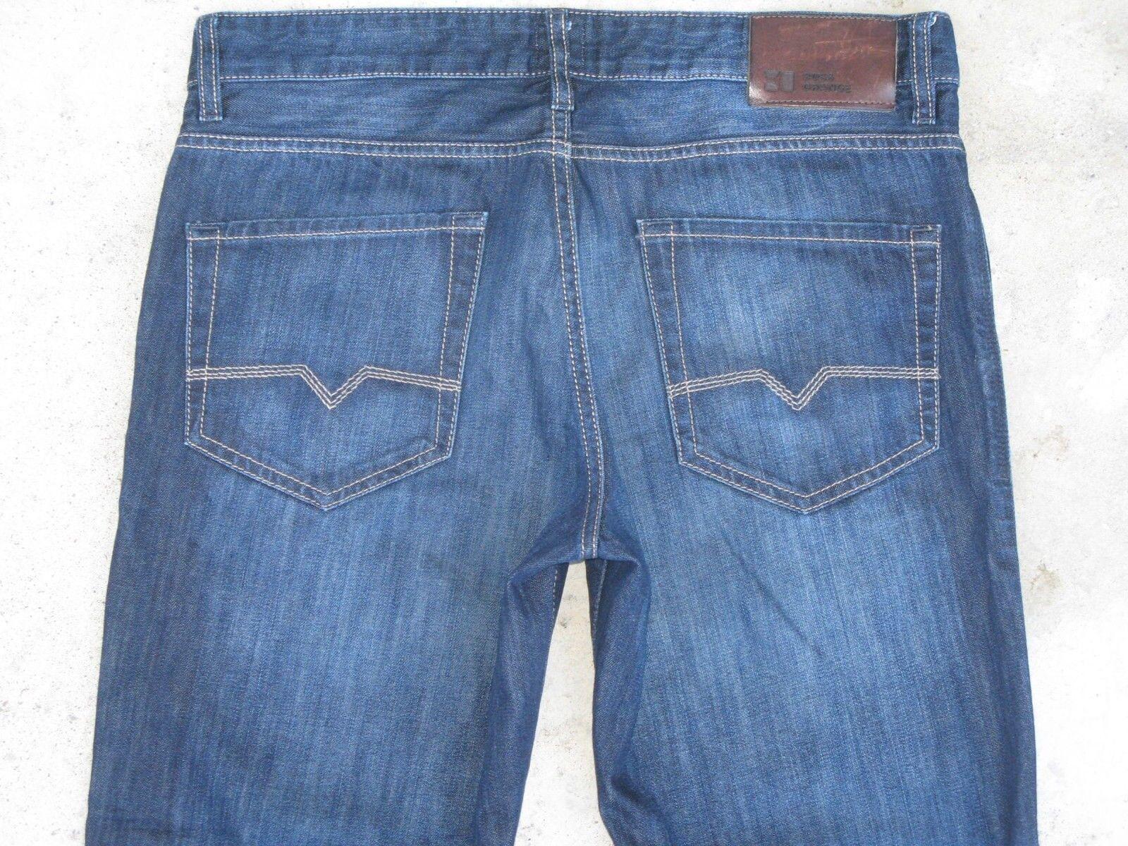 Hugo Boss orange 31 Mens Jeans Regular Fit Straight Sz 34 X 27  Dark bluee