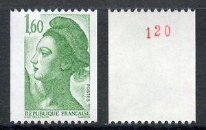 Stamp / Timbre Neuf N° 2222a ** Liberte Delacroix Roulette N° Rouge Au Dos 50% De RéDuction