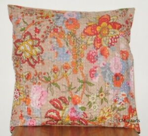 16-039-039-INDIAN-CUSHION-COVER-PILLOW-KANTHA-CASE-WORK-Floral-ETHNIC-THROW-DECOR-ART