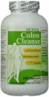 Super Colon Cleanse, 500mg, 240 Capsules, New, Free Shipping on sale