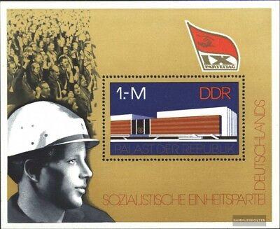 kompl.ausgabe Vornehm Ddr Block45 Gestempelt 1976 Parteitag