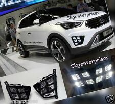 For Hyundai Creta LED High Intensity White Fog Lamp Light Set Of 2pcs