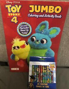 Disney Pixar Toy Story 4 Jumbo Coloring Activity Book 24 Pack Of Crayons Ebay