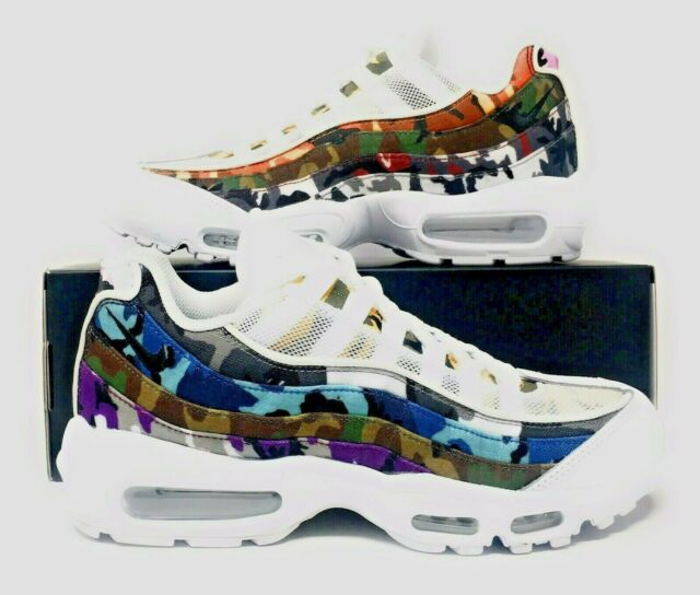 81c8ca11477b2 Nike Air Max 95 ERDL Party White Multi-color Ar4473-100 Size 8 for ...