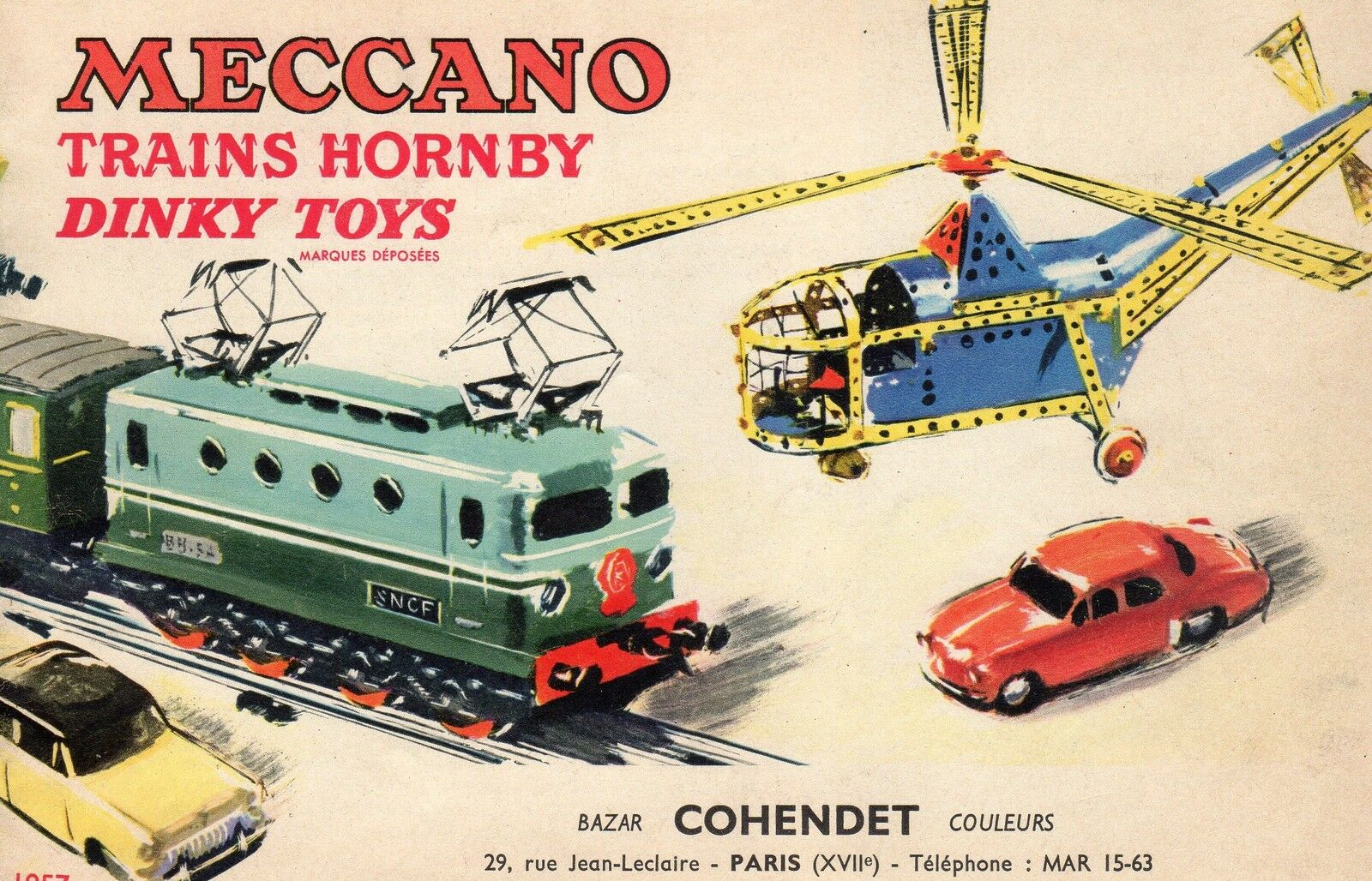 ORIGINAL CATALOGUE 1957 MECCANO TRAINS HORNBY DINKY TOYS 1 43 30 PAGES + RATES