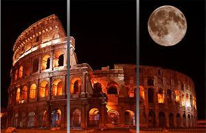QUADRO-moderno-ROMA-COLOSSEO-LUNA-STAMPA-GIa-CON-TELAIO-PRODOTTO-ITALIANO