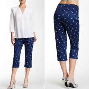 $88 NYDJ Not Your Daughters Jeans Plus Size Dragonfly Capris Petite s14-NWT