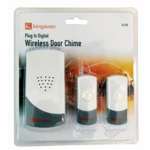 NEW Kingavon  Plug-in Digital Wireless Door Chime with Extra Transmitter