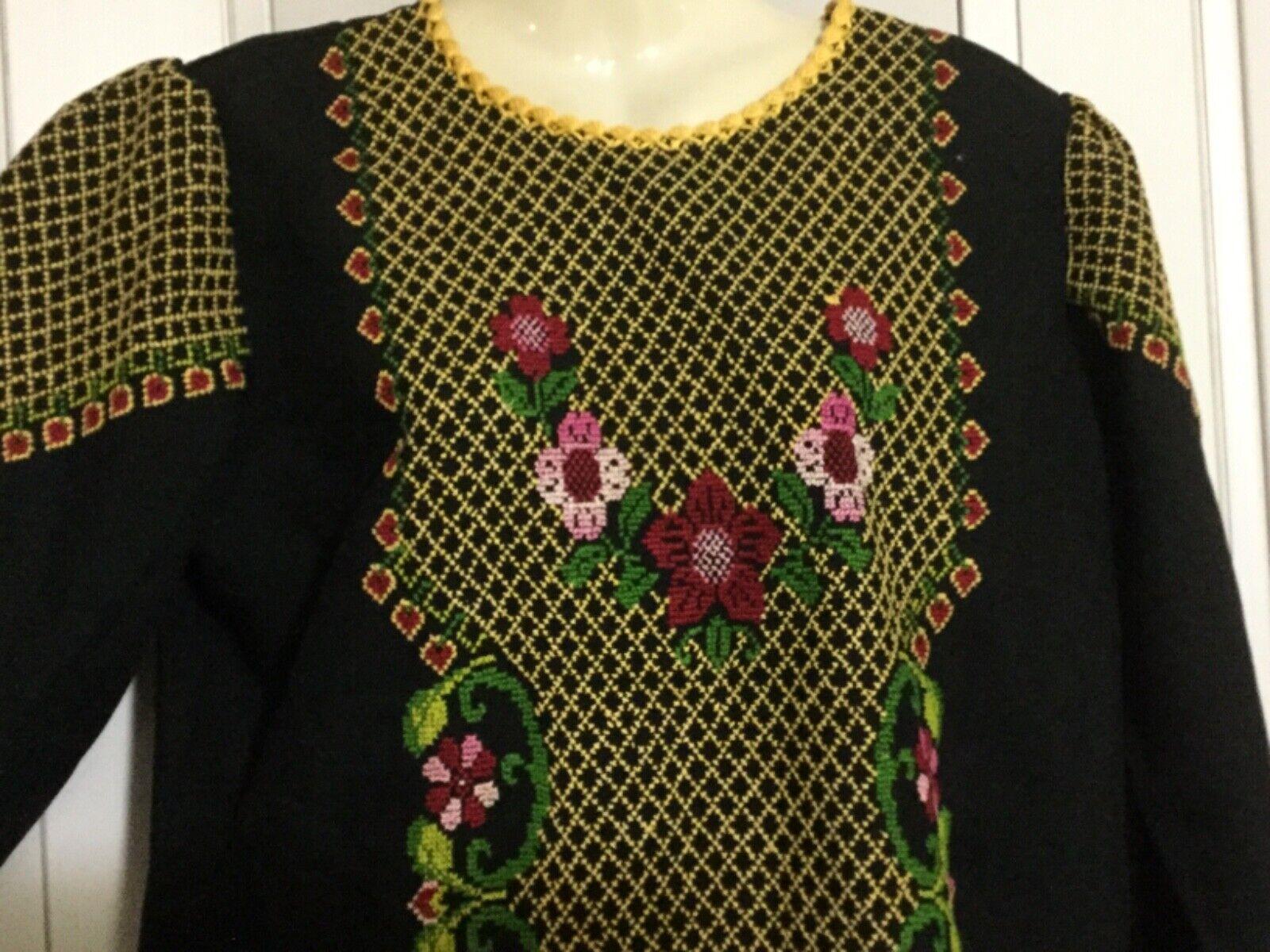 Hand made Embroiderey black Thobe  caftan dress G… - image 7