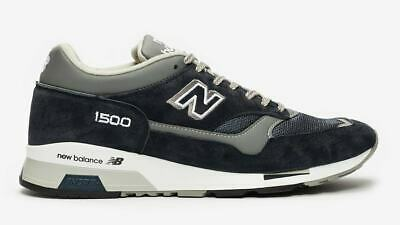 Dettagli su NEW BALANCE 1500 PNV BluBlue GrigioGrey Sneakers Uomo Man Made in UK