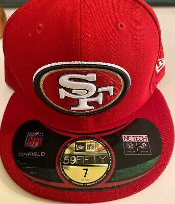 NEW Mens NEW ERA SF 49/'ers Red NE Tech NFL 59FIFTY Baseball Fitted Hat Cap