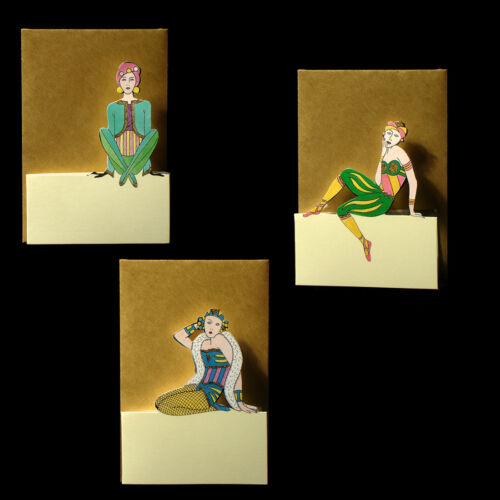 75 Art Deco Ladies Petite Gift Cards EG0017